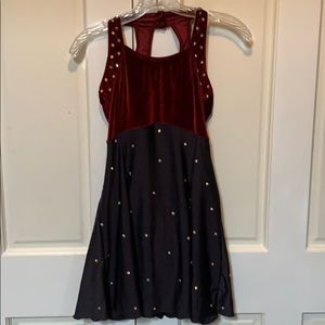 Capezio dance dress rhinestone embellished medium